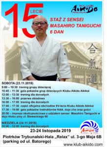 XV-lecie Klubu Aikido Aikikai – seminarium z sensei Masahiro Taniguchi 6 dan @ Batorego 6b